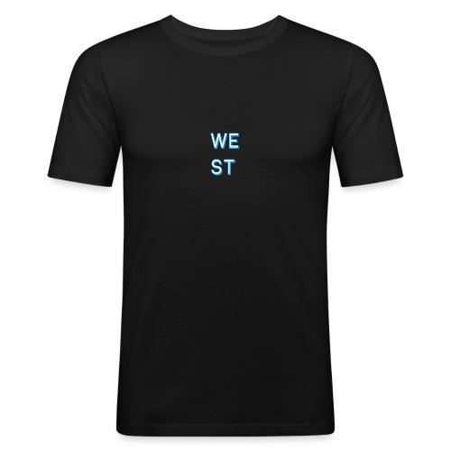 WEST LOGO - Maglietta aderente da uomo