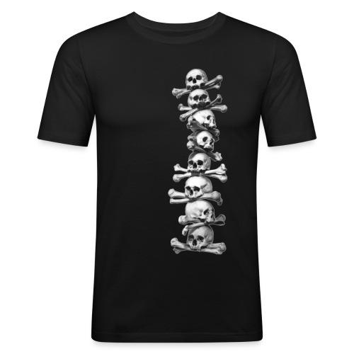Skull chain T shirt - Men's Slim Fit T-Shirt