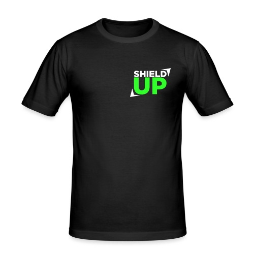 Shield Up green png - Men's Slim Fit T-Shirt