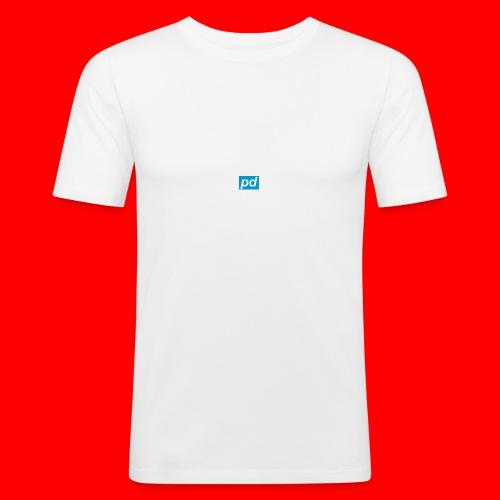 pd Blue - Herre Slim Fit T-Shirt