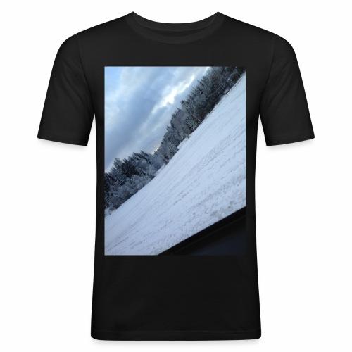 Norsk Natur - Slim Fit T-skjorte for menn
