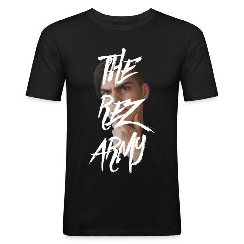 RezTv Army - Miesten tyköistuva t-paita
