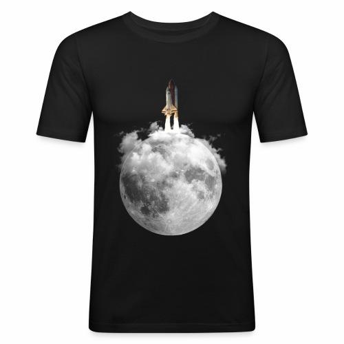 Mondrakete - Männer Slim Fit T-Shirt