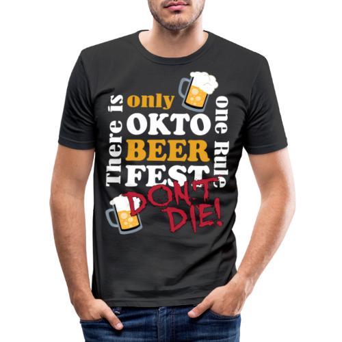 Oktoberfest 2019 - don't die! - Männer Slim Fit T-Shirt