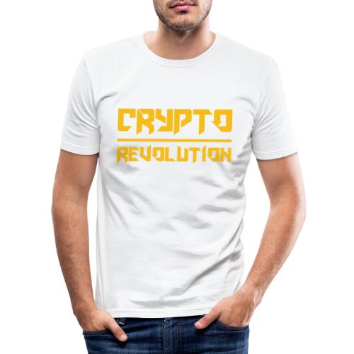 Crypto Revolution III - Men's Slim Fit T-Shirt