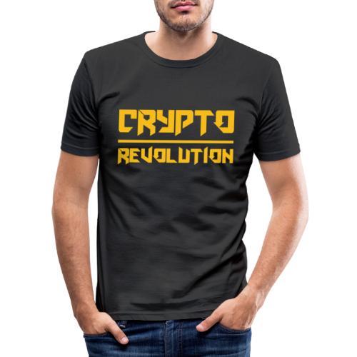 Crypto Revolution III - Men's Slim Fit T-Shirt