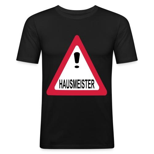 achtung vorsicht hausmeister - Männer Slim Fit T-Shirt