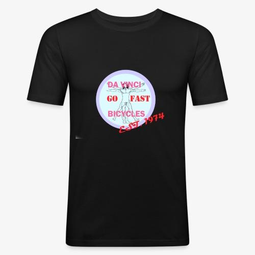 daVinci Bicycles Retro - Miesten tyköistuva t-paita