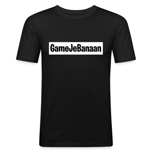 Design zwart wit - Mannen slim fit T-shirt