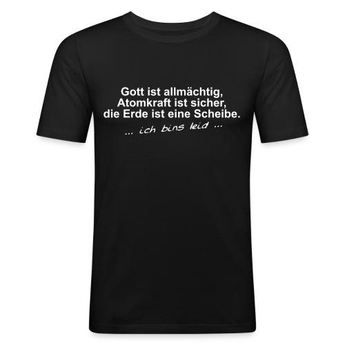 gottistallmaechtig - Männer Slim Fit T-Shirt