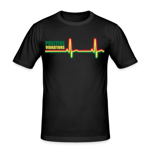 POSITIVE VIBRATION - Men's Slim Fit T-Shirt