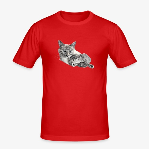 Snow and her baby - Men's Slim Fit T-Shirt