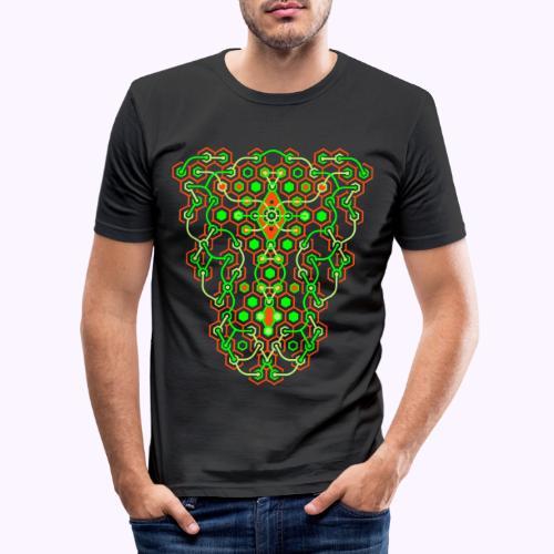 Impresión delantera del laberinto de Cybertron - Camiseta ajustada hombre