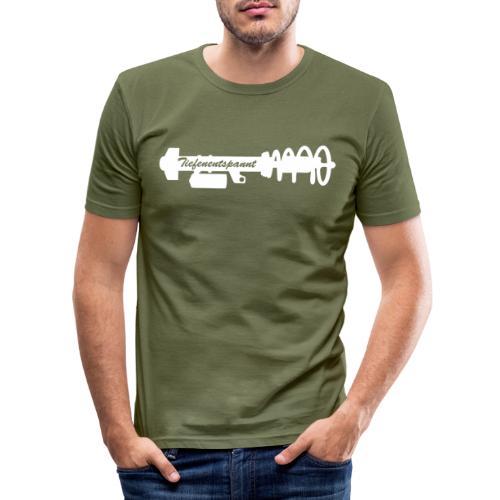 Tiefenentspannt - Männer Slim Fit T-Shirt