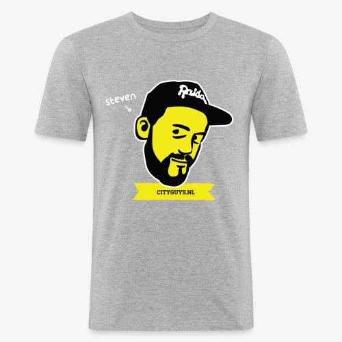 CITYGUYS SHIRT STEVEN - Mannen slim fit T-shirt