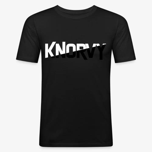 KNORVY - Mannen slim fit T-shirt