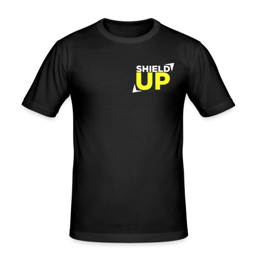 Shield Up yellow png - Men's Slim Fit T-Shirt