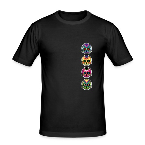 Happy and free The skulls players - T-shirt près du corps Homme