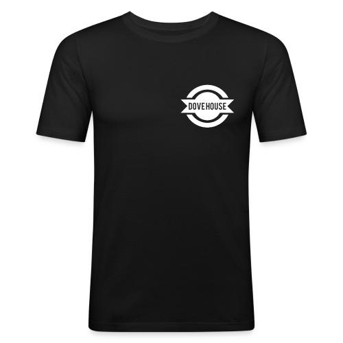 Dove House Logo White - Men's Slim Fit T-Shirt