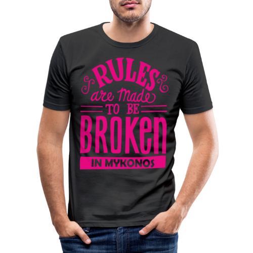 Mykonos Rules - T-shirt près du corps Homme