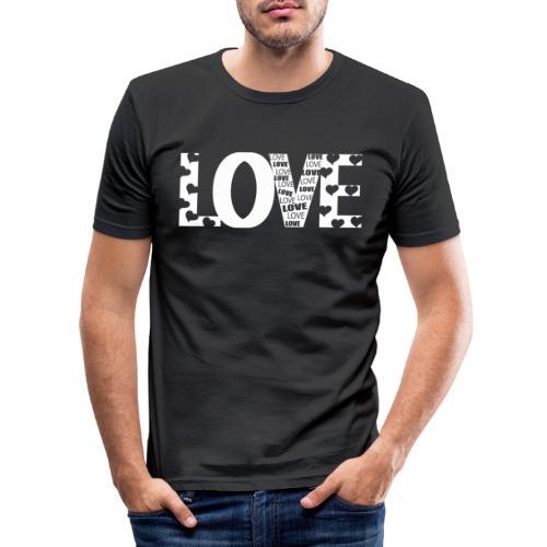 Love mit Herzchen - Männer Slim Fit T-Shirt