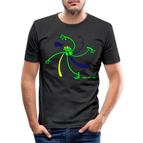 Dancing Frog - Men's Slim Fit T-Shirt