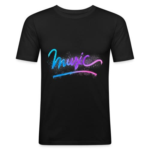 Music Lettering - Camiseta ajustada hombre