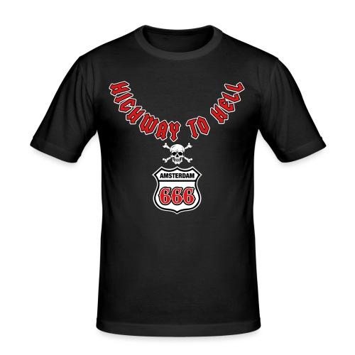 Highway 2 hell amsterdam - Mannen slim fit T-shirt