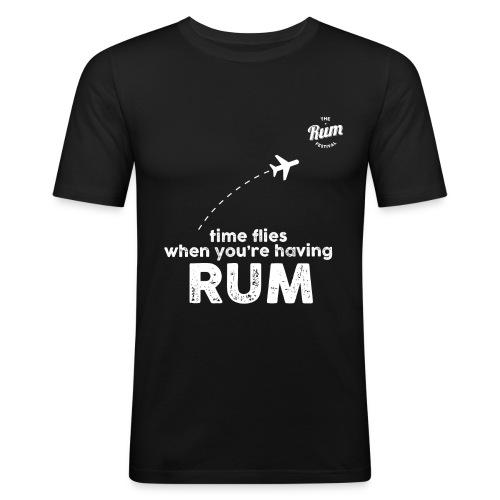 TIME FLIES WHEN YOU'RE HAVING RUM - Men's Slim Fit T-Shirt