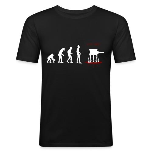Evoluti...Ops - Maglietta aderente da uomo