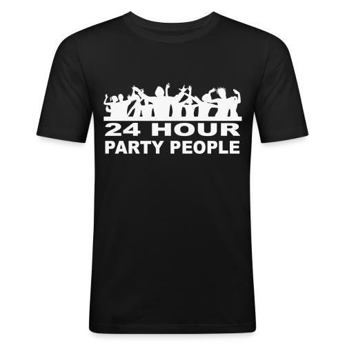 24 Hour party People Ibiza Clubbing t-shirt (Glow - Men's Slim Fit T-Shirt