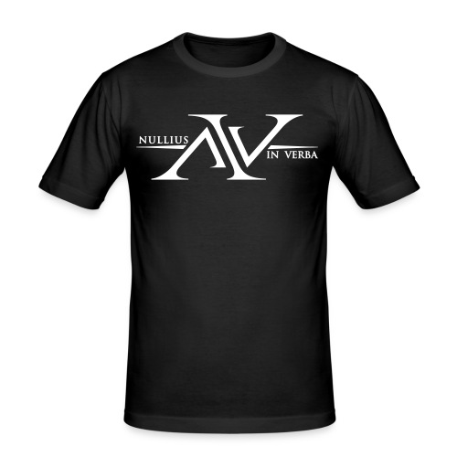Nullius In Verba Logo - Men's Slim Fit T-Shirt