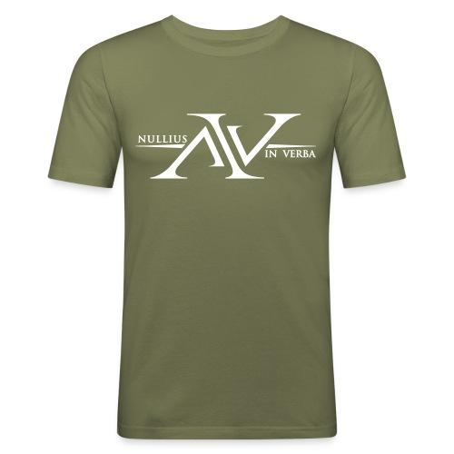 Nullius In Verba Logo - Men's Slim Fit T-Shirt