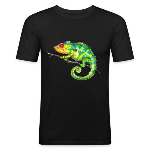 MIKO Chamäleon Chamaeleon Chameleon - Männer Slim Fit T-Shirt