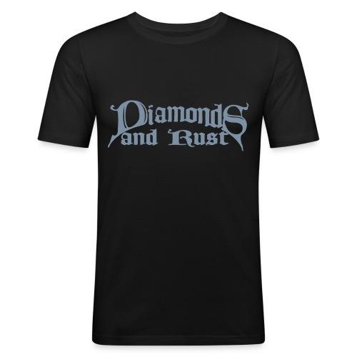 logo schwarz 1c - Männer Slim Fit T-Shirt
