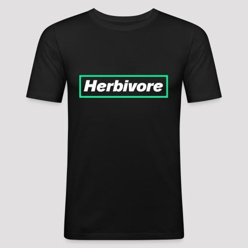 Herbivore Logo White - Maglietta aderente da uomo
