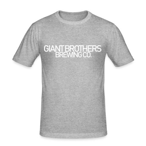 Giant Brothers Brewing co white - Slim Fit T-shirt herr