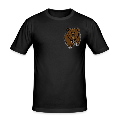 grizzly bear clip art 271767 png - Men's Slim Fit T-Shirt