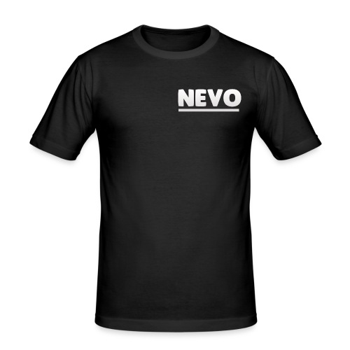 nevo underline white - Men's Slim Fit T-Shirt