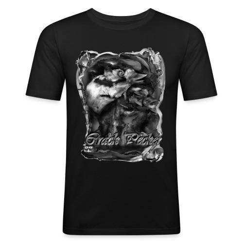 crack pecker zw - Mannen slim fit T-shirt