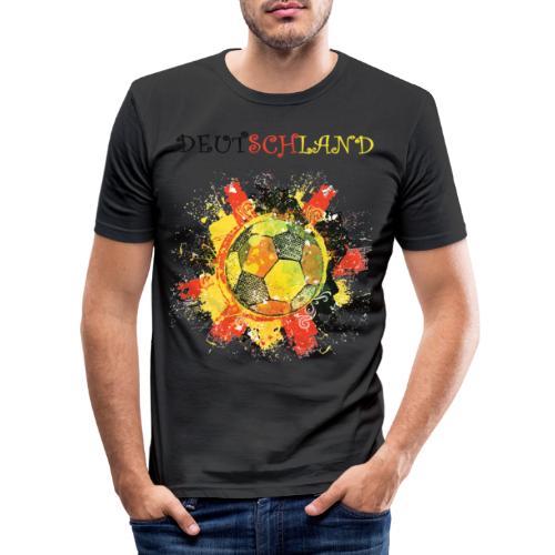 deutschland fanshirt 2018 - Männer Slim Fit T-Shirt