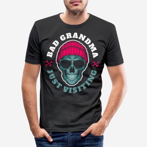 bad oma Großmutter - Männer Slim Fit T-Shirt