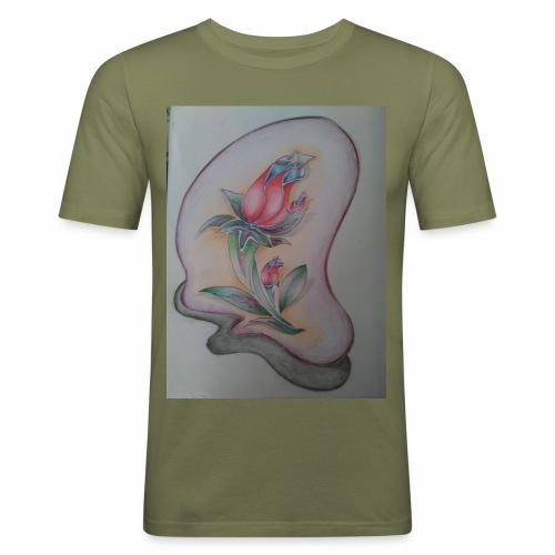 fiore magico - Maglietta aderente da uomo