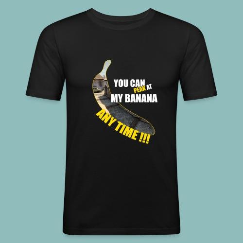 Peak my banana! - Männer Slim Fit T-Shirt