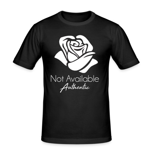 Not Available Rose Blanche Authentic - T-shirt près du corps Homme