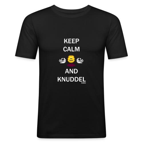 Keep Calm And Knuddel - Männer Slim Fit T-Shirt