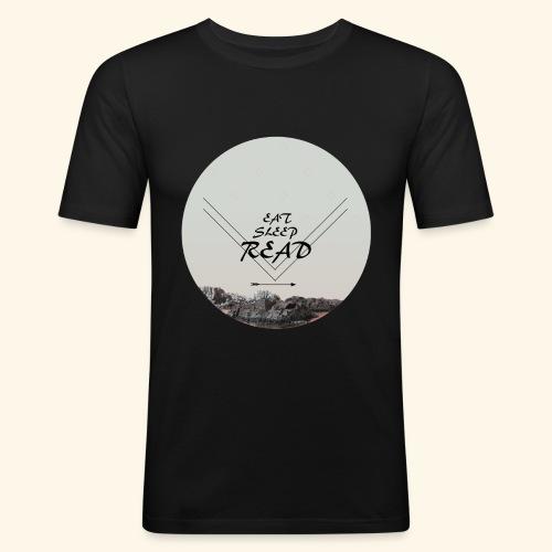 Eat, Sleep, Read - Slim Fit T-shirt herr