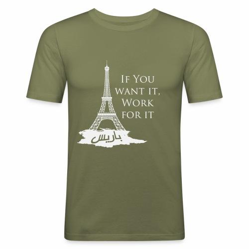 Paris dream work - T-shirt près du corps Homme