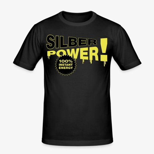 SilberPower! - Herre Slim Fit T-Shirt