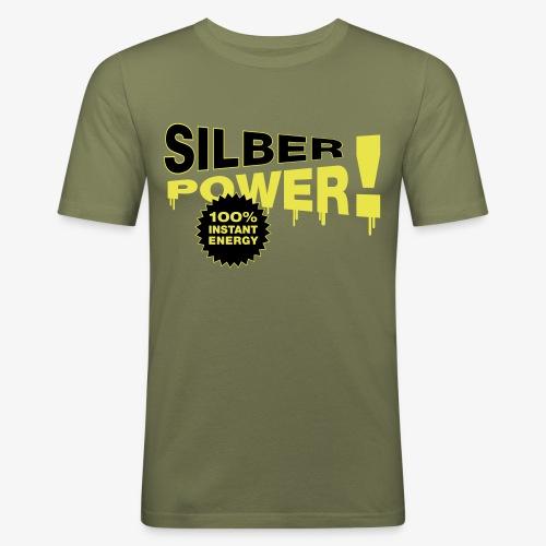 SilberPower! - Herre Slim Fit T-Shirt
